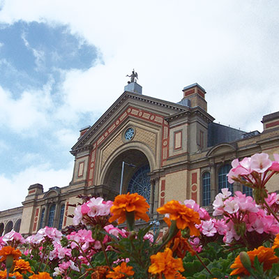 flowers outside Alexander Palace